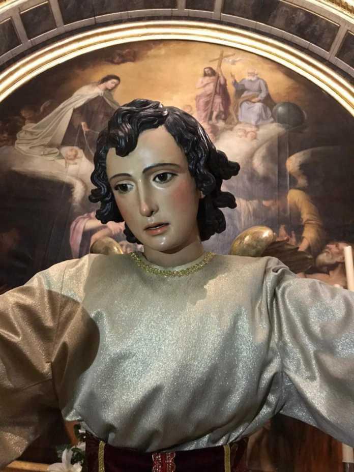 restauración del ángel