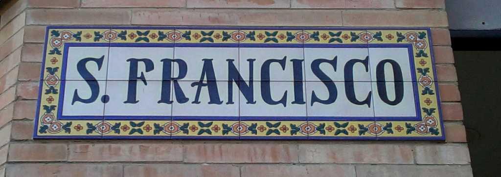 Rótulo de la calle San Francisco de Dos Hermanas